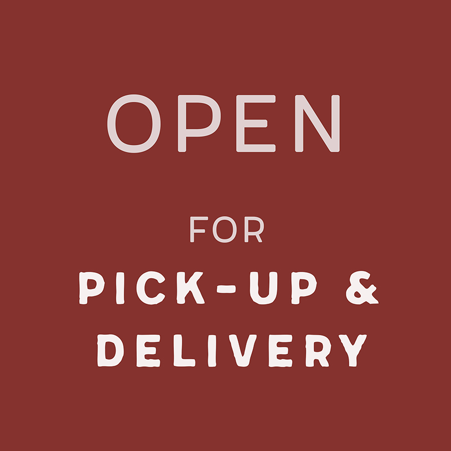 Open for Pick-Up & Delivery graphic